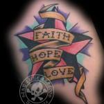 Nautical Star with Faith Hope and Love