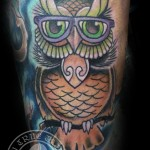 Owl Cover Tattoo